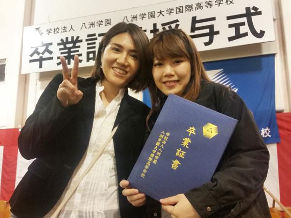 【大阪府】笑顔で卒業証書を受け取った生徒さん♪